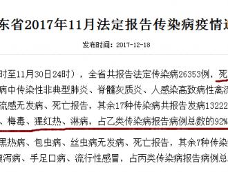 枣庄信息港报道:传染病致死,一定要注意